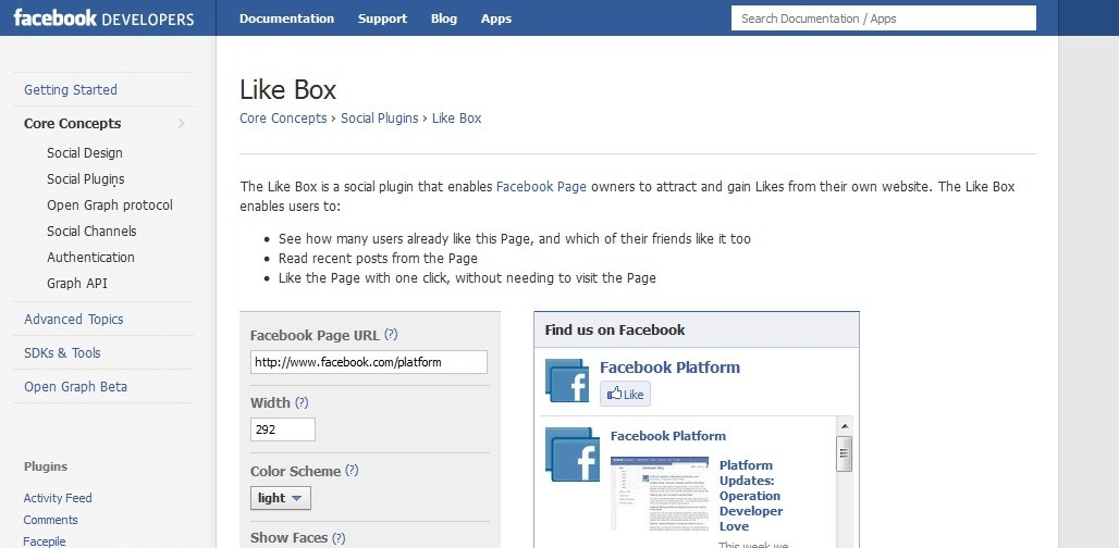 Facebook Like Box Issues
